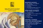 50. Ausgabe des ASIAGO-Festivals, Konzerte in Asiago, vom 9. bis 17. August 2016