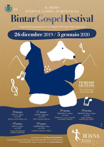BINTAR GOSPEL FESTIVAL 2019-20 Gospel concerts in Roana and hamlets - Asiago Plateau