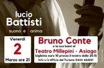 Bruno Conte, Asiago, Konzert-Hommage an Lucio Battisti-2 März 2018