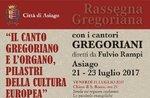 RASSEGNA GREGORIANA-musikalischen Beitrag mit Asiago-21 23. Juli 2017 von Cantori Gregoriani