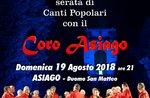 Sommer-Konzert mit dem Chor Asiago-Asiago, 19. August 2018
