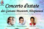 Sommerkonzert mit jungen Altopianischen Musikern in Asiago - 25. Juli 2020