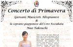 Spring concert of young musicians with Nao Takeuchi Advantag in Asiago, 17 March 2018