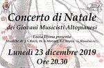 Altopian Young Musicians Weihnachtskonzert in Asiago - 23. Dezember 2019