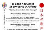 Coro Kozukata in concerto ad Asiago, 29-31 marzo 2016