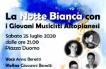 Altopia es Young Musicians Concert für The White Night in Asiago - 25. Juli 2020