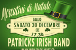 Aperitivo in musica a Gallio con la Patricks Irish Band - 30 dicembre 2017