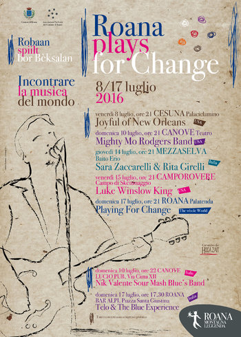 Musical review ROANA PLAYS FOR CHANGE, Roana and fractions, 8-July 17, 2016