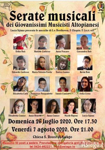 serata giovanissimi musicisti altopianesi ad asiag