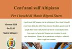 """Abend """"hundert Jahre in der Schweizer Hochebene-the Woods von MARIO RIGONI STERN in Asiago-16 März 2019"""
