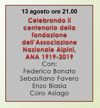 Colloqui dell'Altipiano - 13 agosto 2019