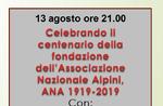 Feier zum 100. Gründungsjubiläum der Nationalen Alpenvereinigung in Asiago - 13. August 2019