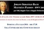 """Conferenza sulla """"Matthäus Passion"""" di  J.S. Bach, Asiago, 31 luglio 2016"""