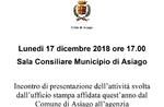 Präsentation der Aktivitäten durchgeführt, durch die Presse Büro von Asiago-17 Dezember 2018