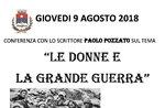 """Tagung """"Frauen und dem ersten Weltkrieg"""" von Prof. p. Pozzato in Conco-9 August 2018"""
