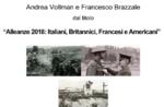 """Treffen """"Bündnisse 1918: Briten, Franzosen, Italiener, Amerikaner"""" mit Andrea Vollman und Francis Banken bei Asiago-5 August 2018"""