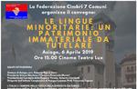 """Konferenz """"MINDERHEITENSPRACHEN: ein immaterielles Kulturerbe gewahrt werden"""" bei Asiago-6 April 2019"""