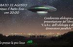Ausländer, die auf dem Plateau, UFO Konferenz in Mezzaselva, 22. August 2015 base