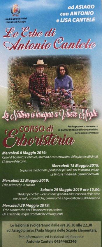 Le erbe di Antonio Cantele - Corso di erboristeria ad Asiago con Antonio e Lisa Cantele - Maggio 2019