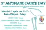 3° die Highland Dance Day, Asiago, Millepini Theater Mittwoch, 1. April 2015