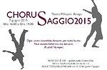 Chorus Saggio, spettacolo danza al Teatro Millepini di Asiago, 7 giugno 2015