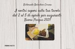EASTER TAKEAWAY MENU of the Restaurant Hotel Belvedere in Cesuna valid from 2 to 5 April 2021
