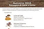Abendessen mit Radicchio Rosso di Treviso in der Hütte Val Ant, Altopiano di Asiago