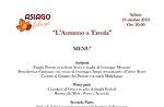 """""""Herbst am Tisch"""" - Themen-Food-Abend im Restaurant Campomezzavia in Asiago - 19. Oktober 2019"""