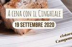 CENA WITH THE CINGHIAL - Themendinner im Campomezzavia Restaurant in Asiago - 19. September 2020