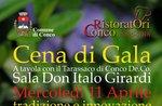 """Serata di apertura con cena di gala per la rassegna """"A Tavola con il Tarassaco di Conco"""" - 11 aprile 2018"""