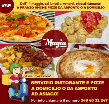 domicilio asporto pizze anche a pranzo magia asiag
