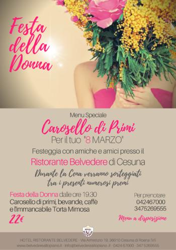 festa donna 2020 allhotel belvedere di cesuna