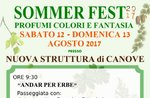 """""""SOMMER FEST - Profumi, colori e fantasia"""" a Canove di Roana - 12/13 agosto 2017"""