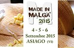 Hergestellt in Malga 2015 nationales Ereignis Asiago Käse 4 Mountain-September 6