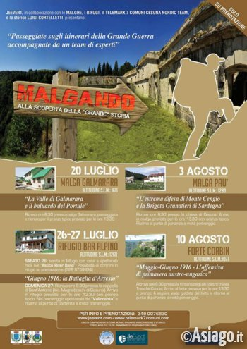 MALGANDO discovering great story, Asiago plateau 7/20/10 08/2014