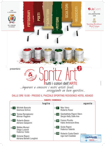 SPRITZ Kunst-alle Farben der Kunst, Asiago, 3. Juli-August 28, 2016