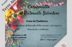 Menu di Carnevaletto a base di baccalà del Ristorante Belvedere di Cesuna