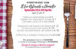 Speciale menu 25 e 26 aprile per il pranzo a domicilio del Ristorante Belvedere di Cesuna