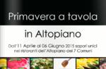 Frühling am Tisch, einzigartige Aromen von Restaurants, 11-Apr-6 Jun 2015