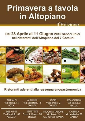 Spring at the table in plateau, unique flavors of restaurants, 23 apr-11 Jun 2016