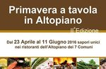 Primavera in altopiano 2016