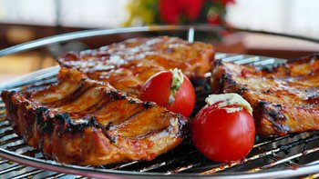 Ribs con salsa barbecue