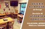 Servizio da asporto e domicilio di colazioni, aperitivi e paella alla valenciana dell