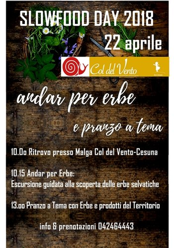 Slowfood Day a Col Del Vento 2018