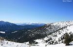 Schneeschuhwandern Sie Lärche Gipfels ein Schritt von TRENTINO mit Guides