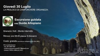 Escursione al Monte Interrotto Camporovere con Guide Altopiano