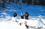 Familie Wandern mit Schneeschuhen, Alpine Hütte Bar 11. Januar 2015