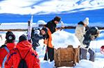 Familie Wandern mit Schneeschuhen, Alpine Hütte Bar 21. Dezember 2014