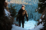 Familie Wandern mit Schneeschuhen, Alpine Hütte Bar, 1. März 2015
