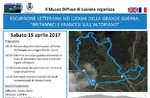 Literarische Exkursion in die Orte des großen Krieges, Lusiana, 15. April 2017